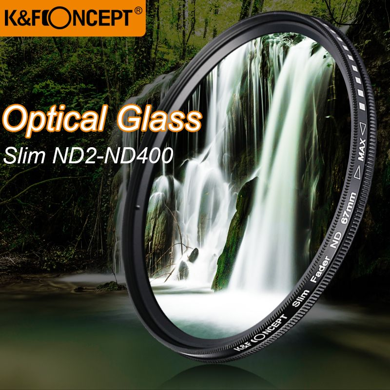 K & F CONCEPT mince ND2-400 densité neutre Fader filtre Variable ND cadre métallique lentille en verre optique réglable 52/55/58/67/72/77mm