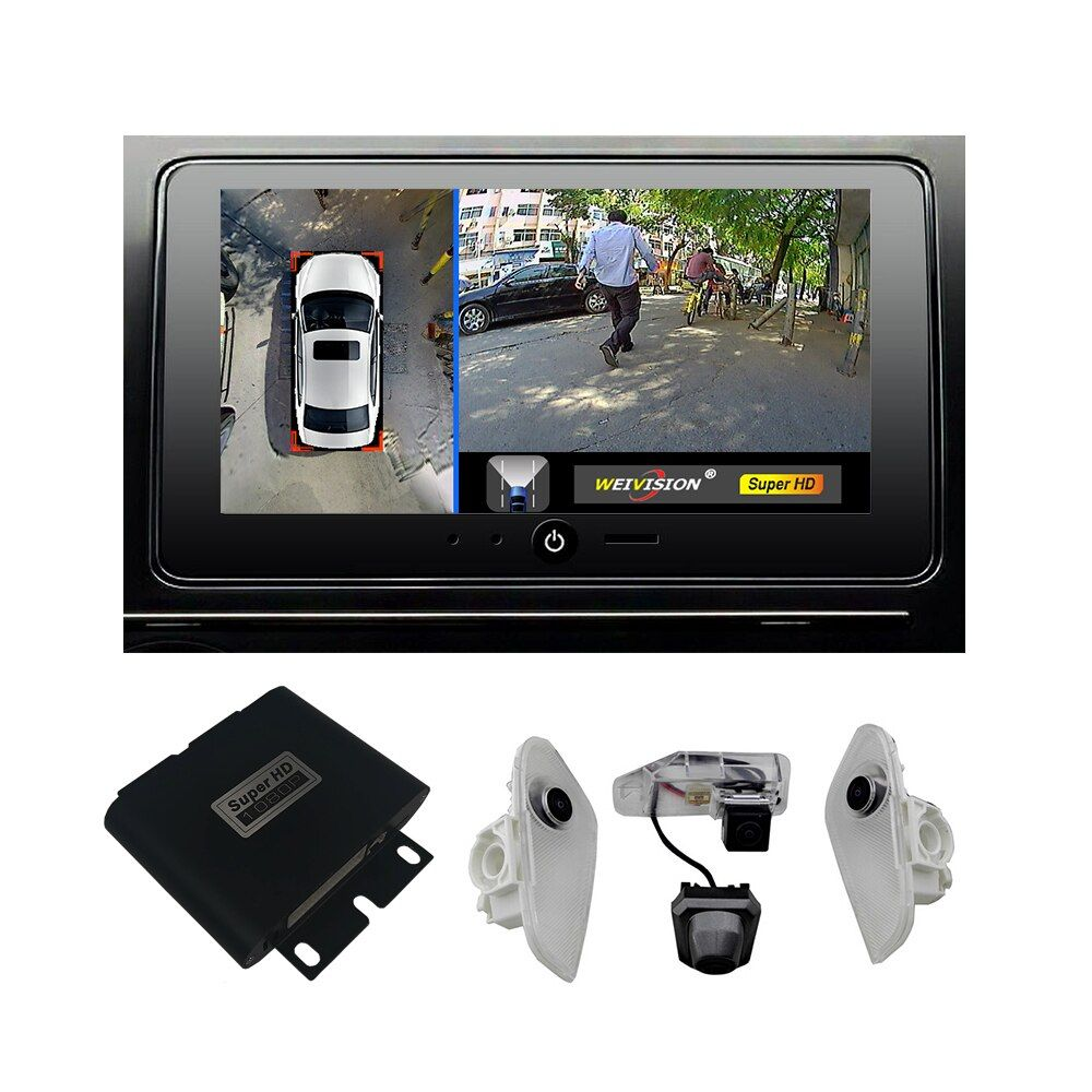 1080P Super HD 360 Bridview Car Monitor System Panoramic View All round View Camera system with DVR record for Lexus NX EX RX
