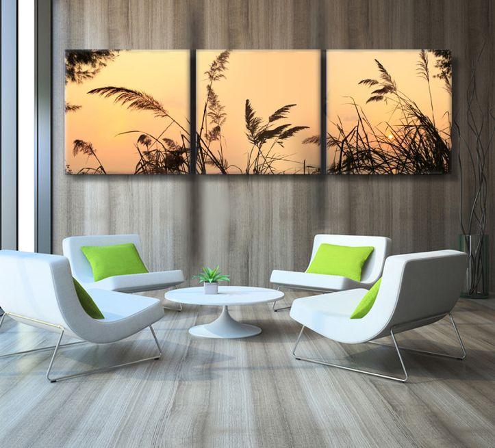 Unframed 3 Панель закат пейзаж Wall Книги по искусству картина холст с маслом по номерам Главная Наклейка
