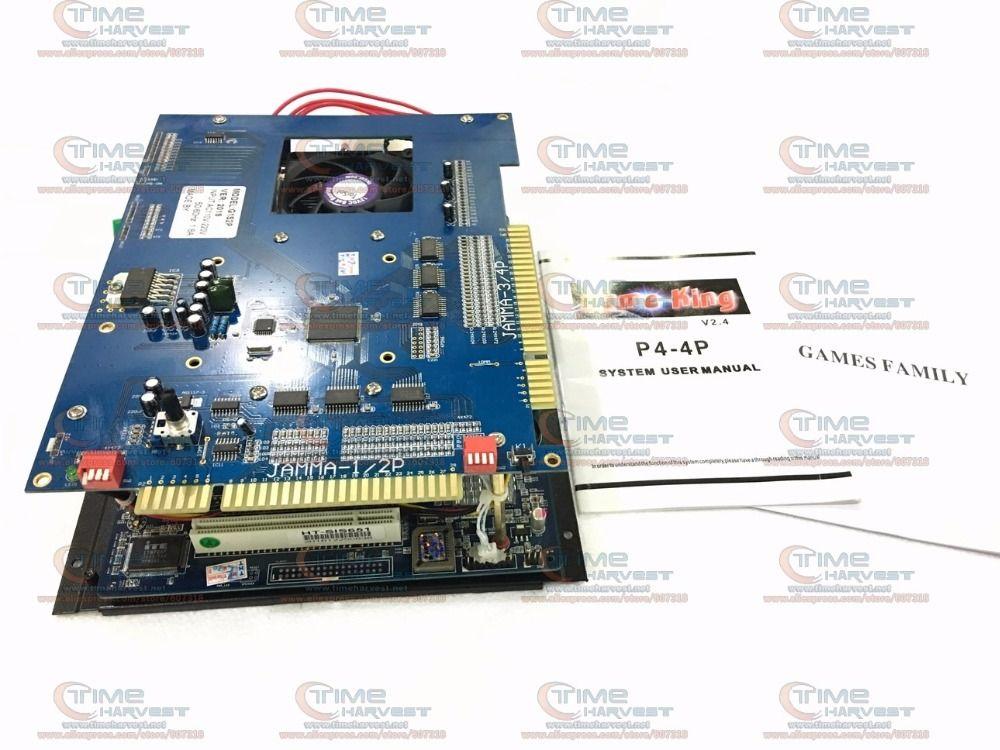 2 stücke 2019 in 1 game Board 2,4G CPU 40G Verwendet HDD P4 motherboard JAMMA multi spielbrett für säulengangspielmaschine CGA & LCD schrank