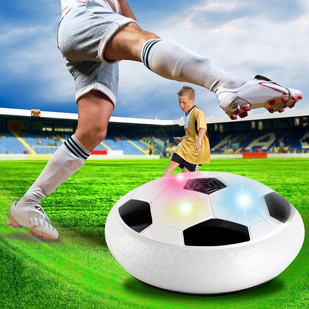 Drôle lumière LED clignotant balle jouets Air puissance ballons de Football disque planant multi-surface planant Football jeu jouet enfant enfants enfants enfants cadeau