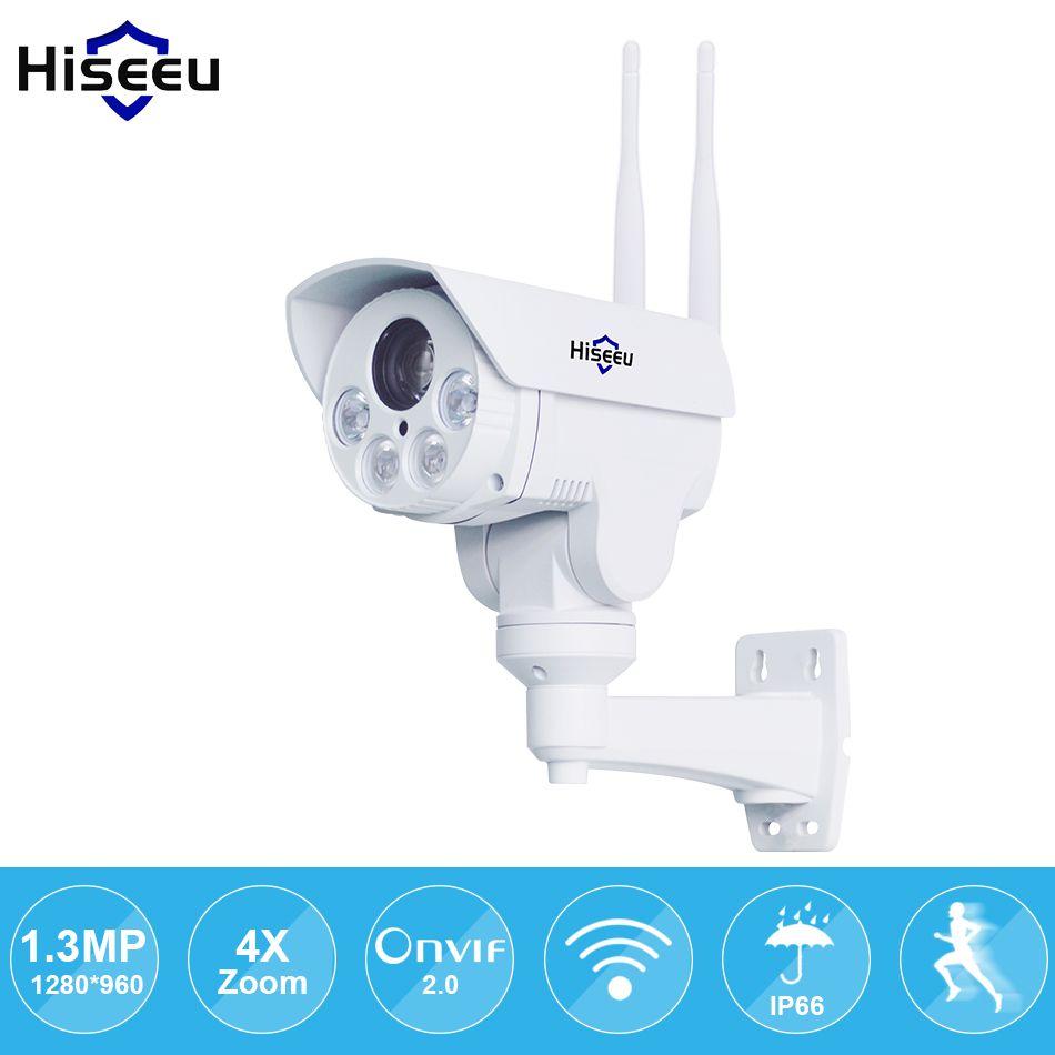 IP Camera wi-fi PTZ Bullet 4X Zoom 960P IP Speed dome Project Night Vision Outdoor Waterproof IP66 IRCUT ONVIF P2P Hiseeu