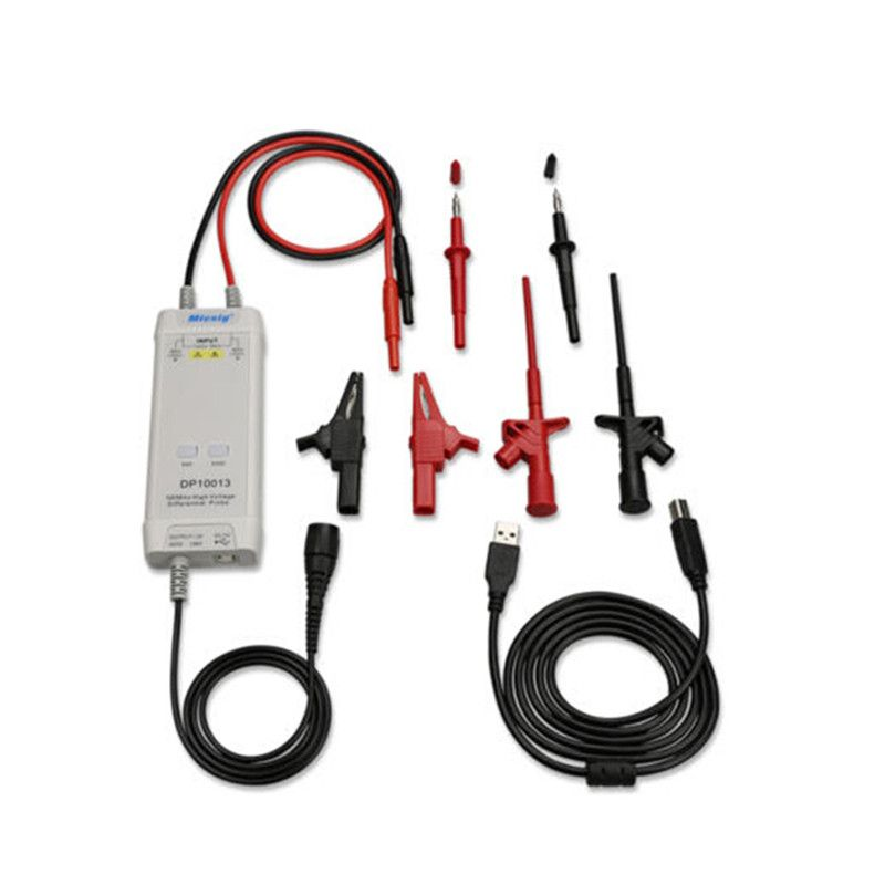 Micsig DP10013 Oscilloscope Probe Accessories Parts 1300V 100MHz High Voltage Differential Probe kit 3.5ns Rise Time