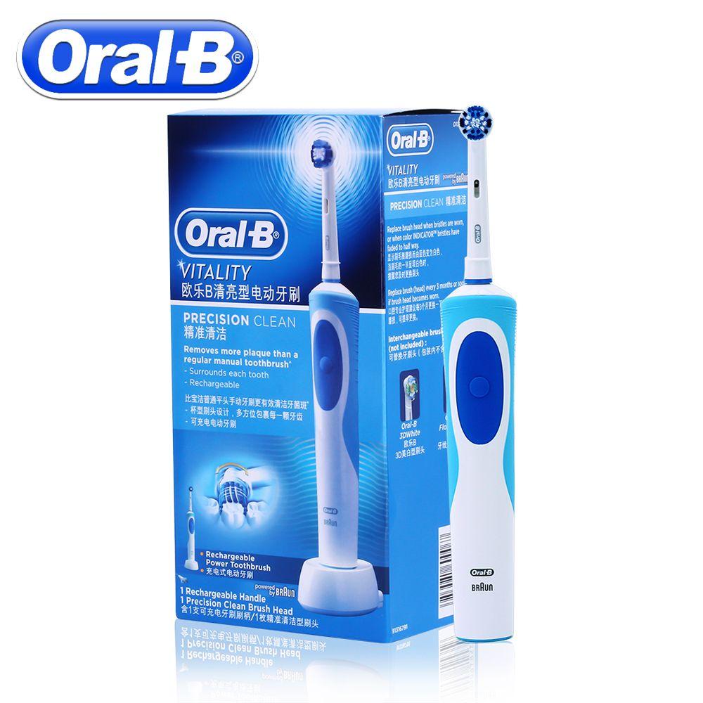 Oral B brosse à dents électrique sonique Rotation Vitalité D12013 Rechargeable brosse à dents Hygiène Bucco-dentaire brosse à dents 1 brosse à dents Têtes