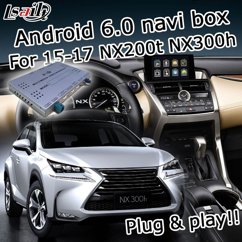 Android 6.0 GPS navigation box for Lexus NX200t NX300h 2015-2017 etc knob & touchpad control video interface with GVIF LVDS