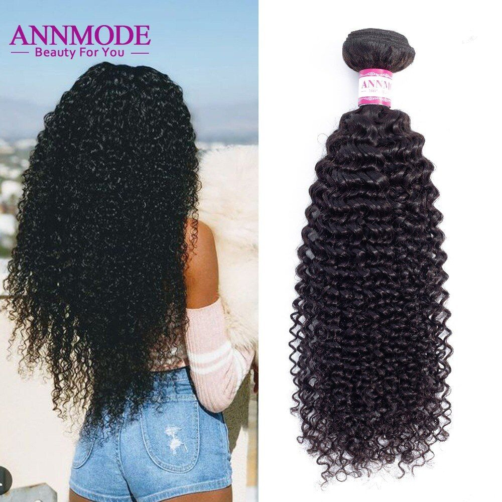 Annmode Afro Kinky Curly Hair 1/3/4 pc Natural Color 8-28inch Brazilian Hair Weave Bundles Non Remy <font><b>Human</b></font> Hair Free Shipping