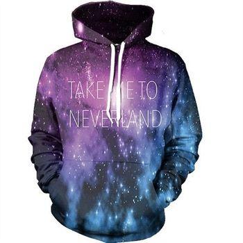 3D Space Galaxy Sweatshirts Men Women Hoodies With Hat Print Stars Nebula Autumn Winter Loose Thin Hooded Hoody Tops