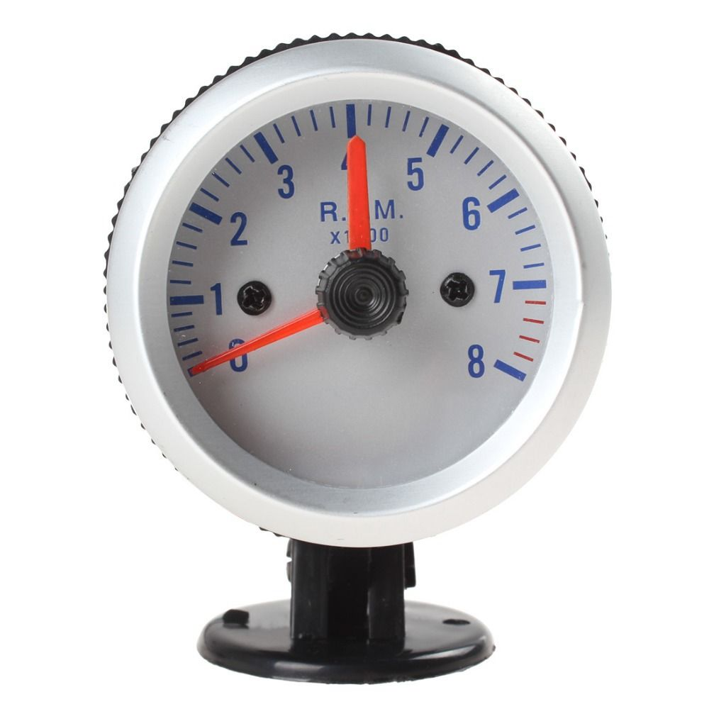 Hot Sale! New arrival! 0~8000RPM 2 52mm Blue Light Tachometer Tach Gauge with Holder Cup for Auto Car