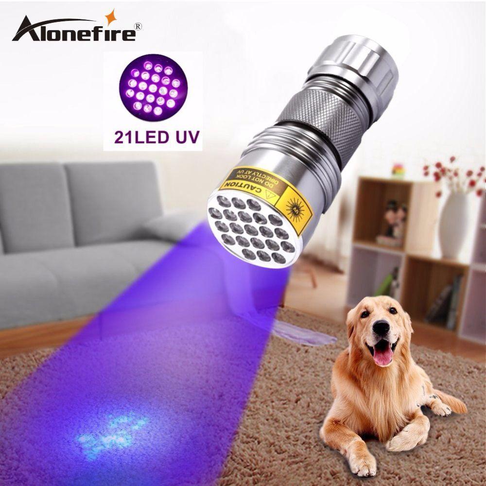 Alonefire 3AAA Aluminium Blacklight Invisible Ink Marker 21LED 21 LED UV Ultra Violet lampe de Poche Lampe Torche Lampe