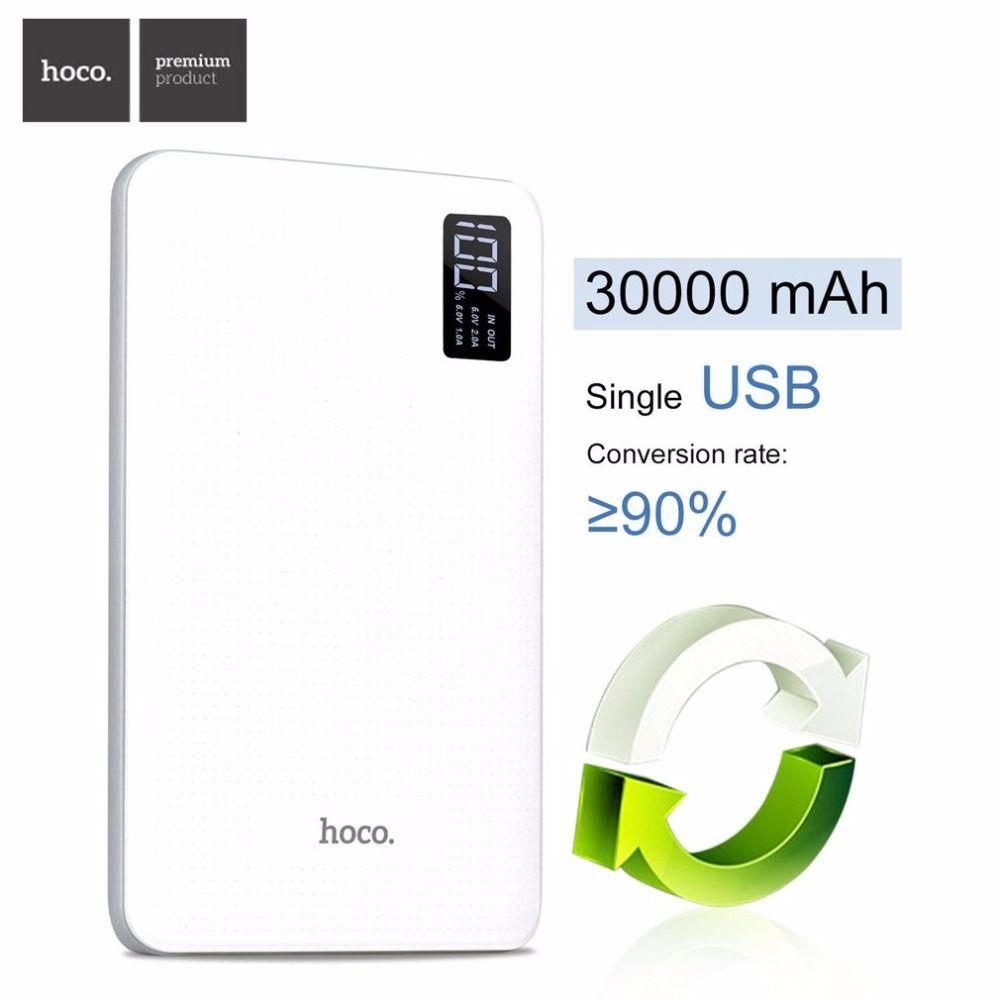 B24 30000 mAh Power Bank Cargador Portátil Con Pantalla de HOCO Triple USB Teléfono Móvil Batería Externa Para el iphone Xiaomi Powerbank