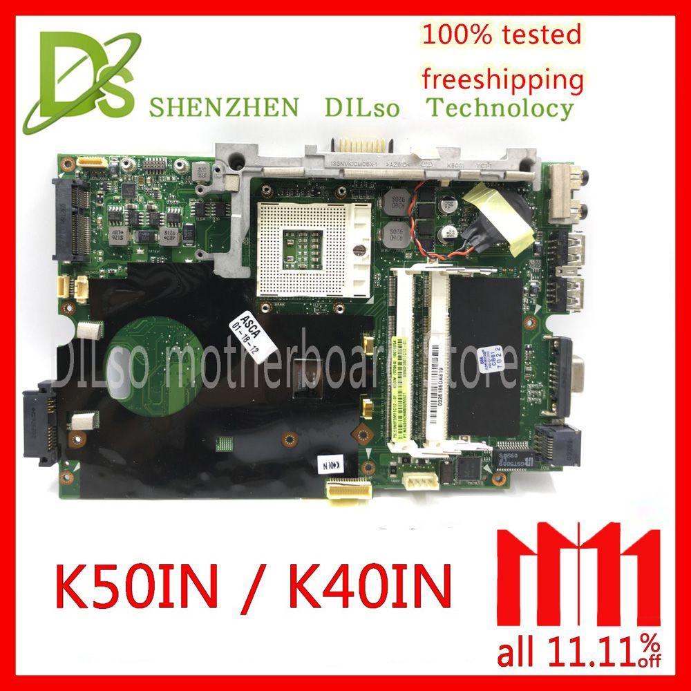 KEFU K40IN K50IN motherboard for asus X8AIN,X5DIN K40IP K50IP laptop motherboard Test mainrboard work 100%