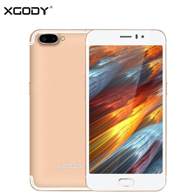 XGODY D23 3G Unlock Touch Mobile Phone MT6580A Quad Core 1G+16G 5.0MP+13.0MP Smartphone 5.5 Inch Android 5.1 Cellphone 2350mAh