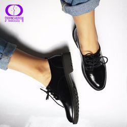 Туфли-оксфорды на плоской подошве в британском стиле; женские весенние оксфорды из мягкой кожи; повседневная обувь на плоской подошве; женс...