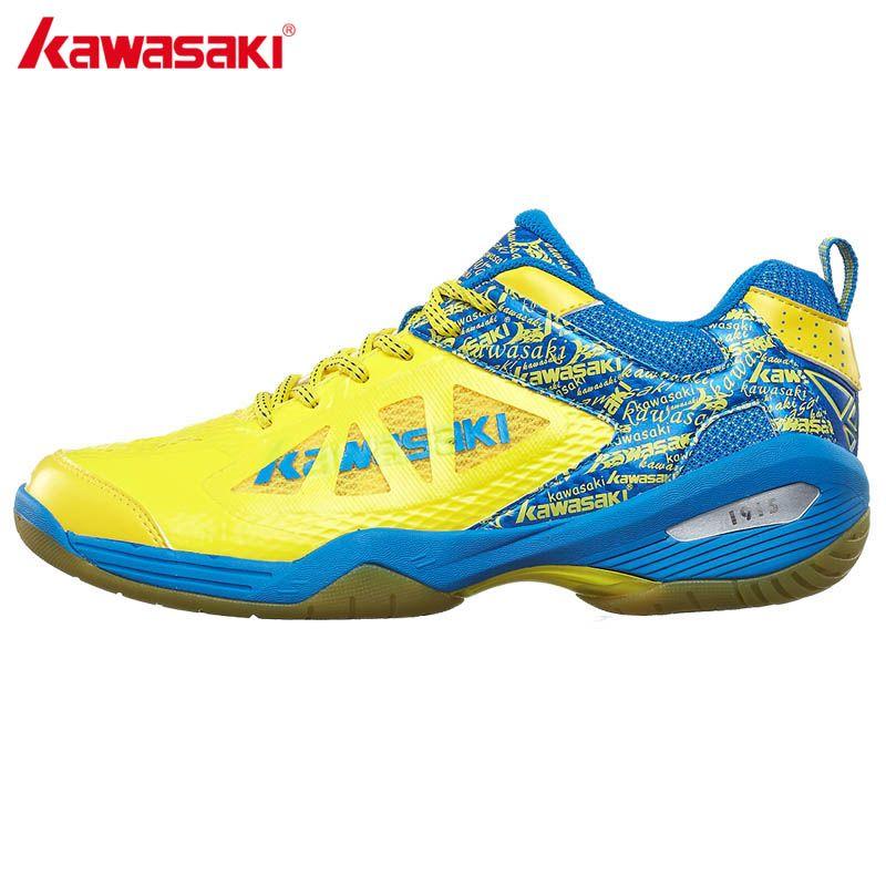 Original Kawasaki Zapatillas de bádminton para hombres mujeres goma inferior transpirable antideslizante zapatillas calzado deportivo k-337 338
