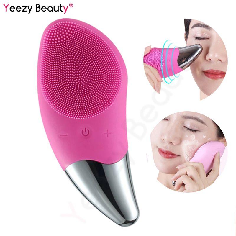 Mini 2 électrique Silicone brosse de nettoyage du visage masseur Anion importé Vibration Massage rides points noirs supprimer soins du visage