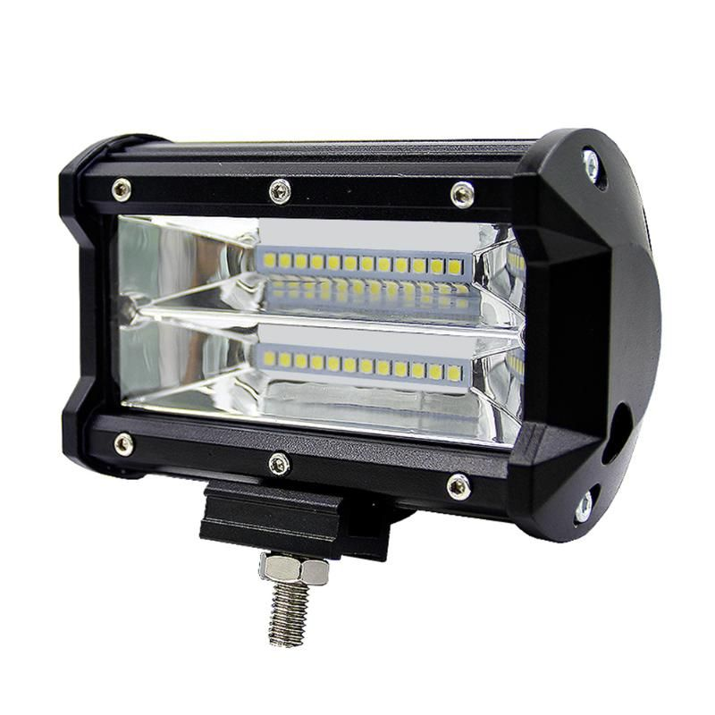 5inch 72W 2-Row Work Light Bar 6000K Flood Lamp Marine LED Day lighting for Jeeps Off-road SUVs Boats car accessaries