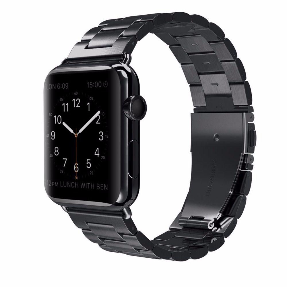 UEBN classique métal acier inoxydable bande pour Apple watch série 4 44mm 40mm bracelet de montre pour iWatch 3/2/1 42mm 38mm