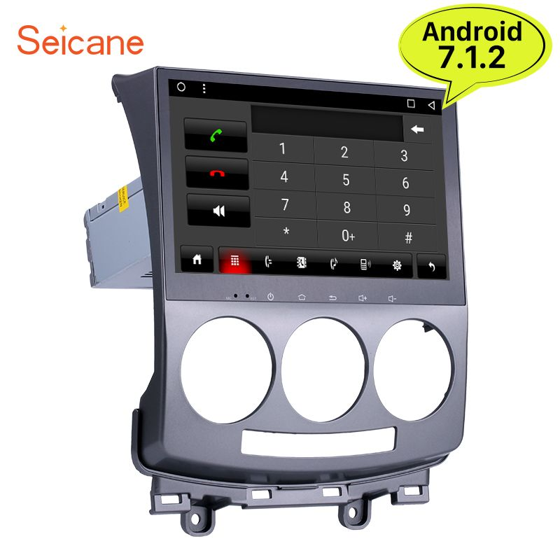 Seicane Android 7.1 Car GPS Radio Bluetooth for 2005-2010 Old Mazda 5 with 1024*600 HD Touch-Screen Support 4G Rearview Camera