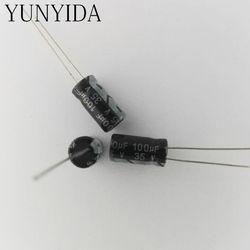En aluminium électrolytique condensateur 35 V 100 uf 50 V 25 V 16 V 10 V 47 UF 33 UF 22 UF 10 UF 4.7 UF 3.3 UF 2.2 UF 1 UF 0.47 UF 50 PCS