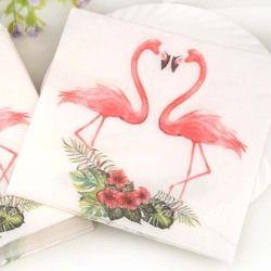 Nouveau Blanc Beauté Fleurs Flamingo Serviettes En Papier Café & Party Tissus Serviettes Découpage Décoration Papier 33 cm * 33 cm 20 pcs/pack/lot