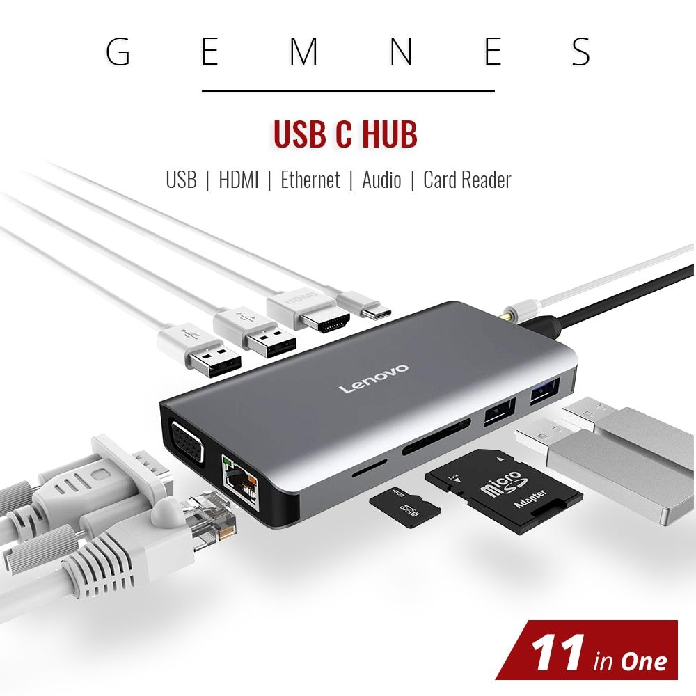 11 in 1 USB C Hub zu HDMI 4 K RJ45 Ethernet LAN USB 3.0 für MacBook Pro Xiaomi Asus Lenovo laptop Huawei Mate 10 Typ C Laptop