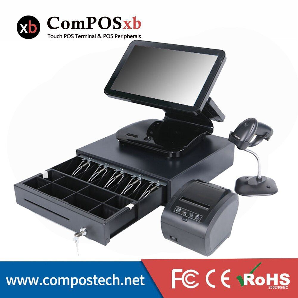 Pos System 15.6 cash Registers Restaurant Equipment With Thermal Printer POS Set Free Shipping