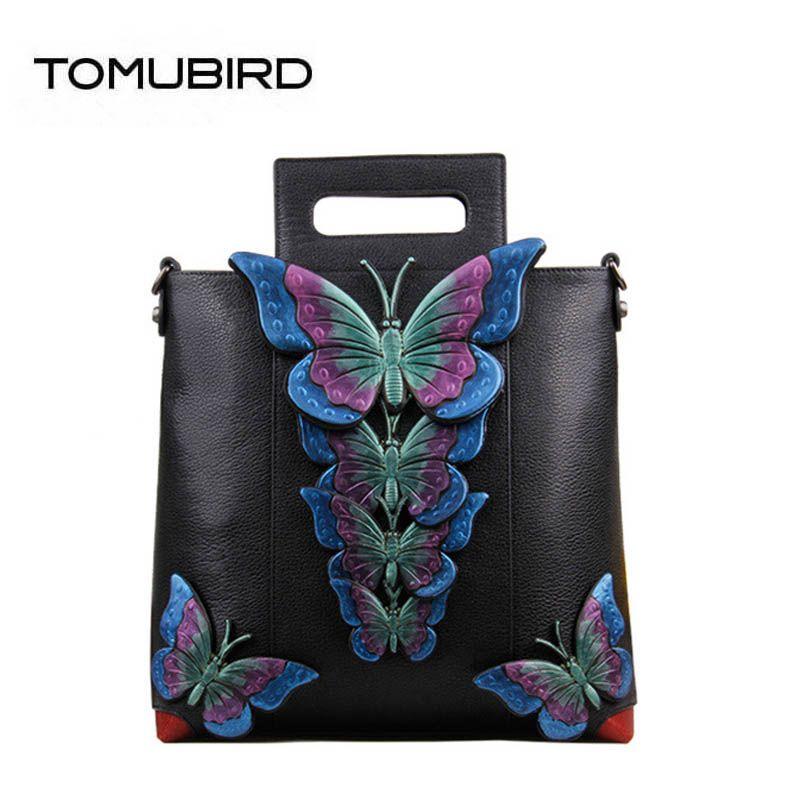 2018 neue überlegene leder designer marke frauen taschen mode Dreidimensionale schmetterling echtem leder handtaschen frauen einkaufstasche
