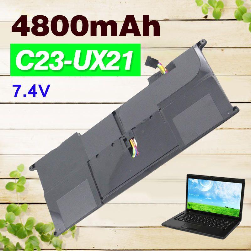4800mAh 7.4V New C23-UX21 Laptop Battery for Asus ZenBook UX21A UX21E Ultrabook C23UX21
