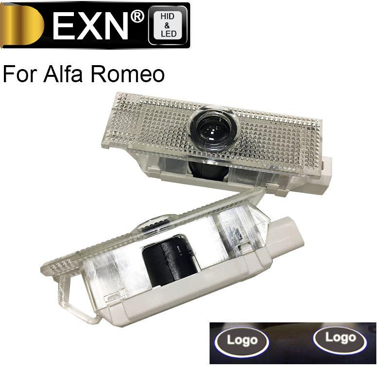 2Pcs Courtesy Lamp For Alfa Romeo LED Car Door Welcome Light Car Door Logo Projector Ghost Laser Shadow Lamp For Alfa Romeo
