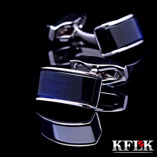 KFLK Luxe 2018 Nouvelle chemise boutons de manchette pour hommes Marque manchette boutons de manchette liens Bleu gemelos Haute Qualité abotoaduras Bijoux