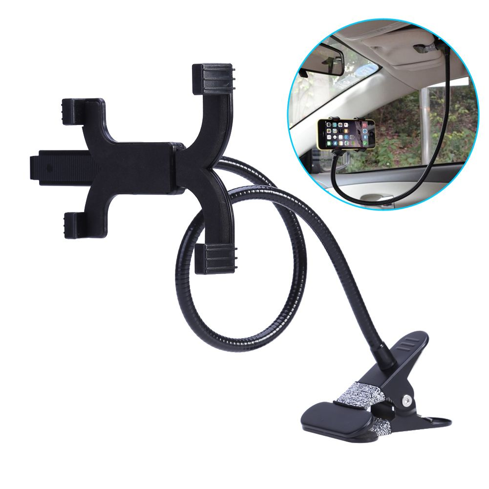 Universal Phone Clip Stand for iPad Shelf Lazy Stent Tablet Clamp Holder Auto Clip-On Support Car-styling Mobile Mounts