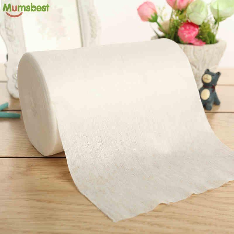 [Mumsbest] couches jetables pour bébé doublures de couches biodégradables et jetables doublures de couches en tissu 100% bambou 100 Sheets1 Roll