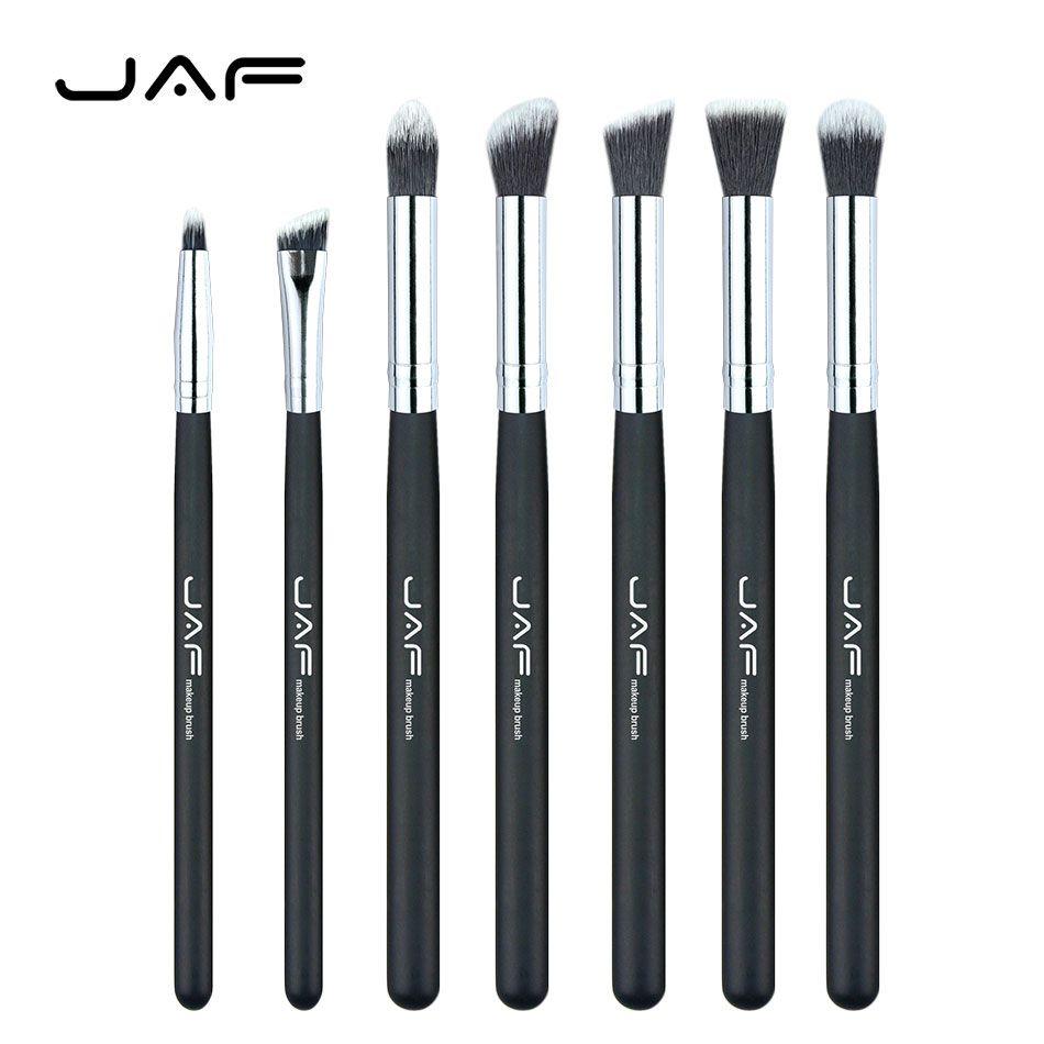 Retail JAF Brand 7 pcs/set Professional Portable Makeup Brushes of Eye Blending Eyeshadow Smudge Shading Brushes JE07SSY-B