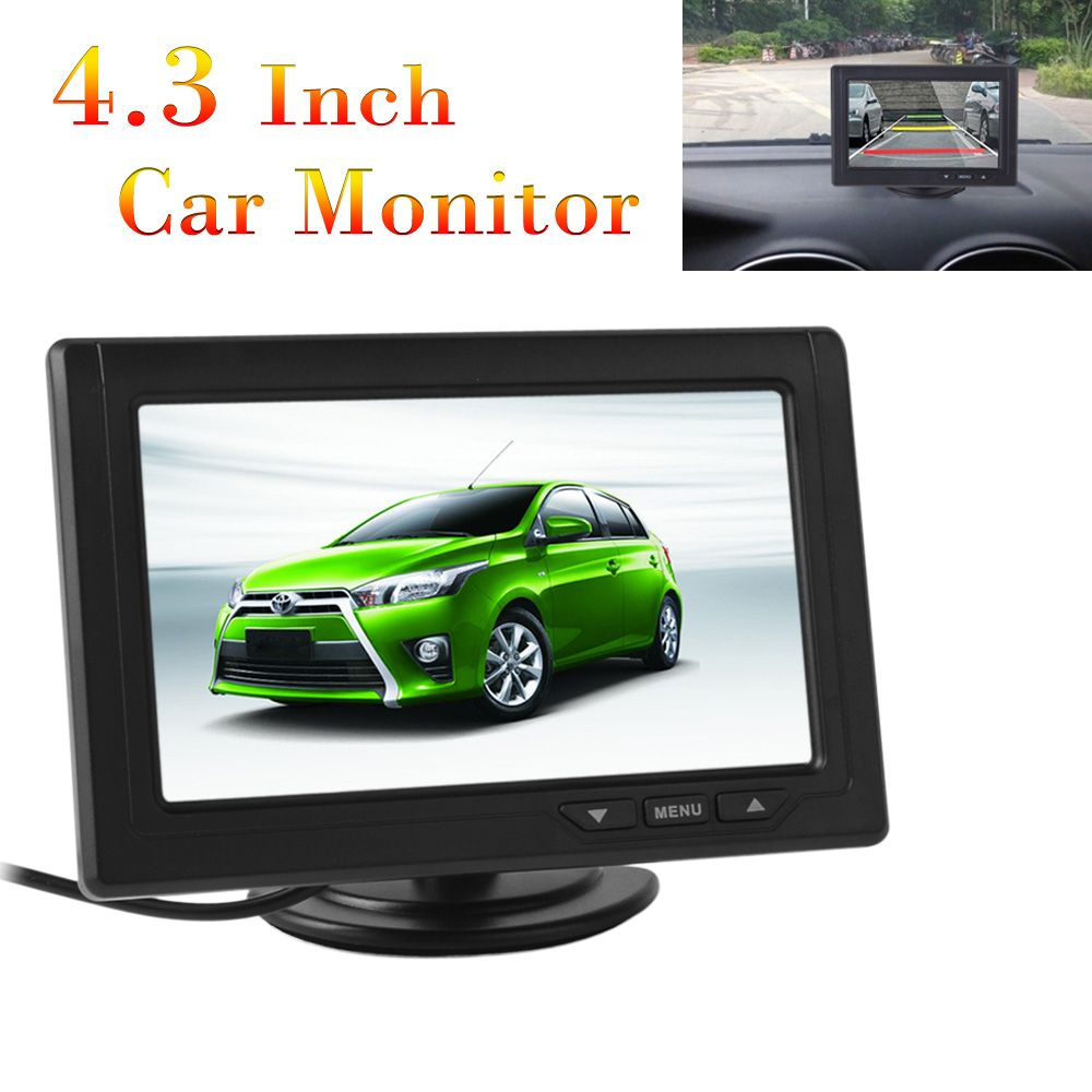 Car Rear View Parking <font><b>Backup</b></font> Monitor of 4.3 Inch 480 x 272 Color TFT LCD Screen for Reverse Camera DVD