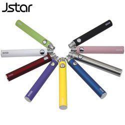 10pcs/lot Jstar EVOD Battery 650mAh 900mAh 1100mAh Electronic Cigarette ego evod Battery  e cig for MT3 CE4 H2 atomizer