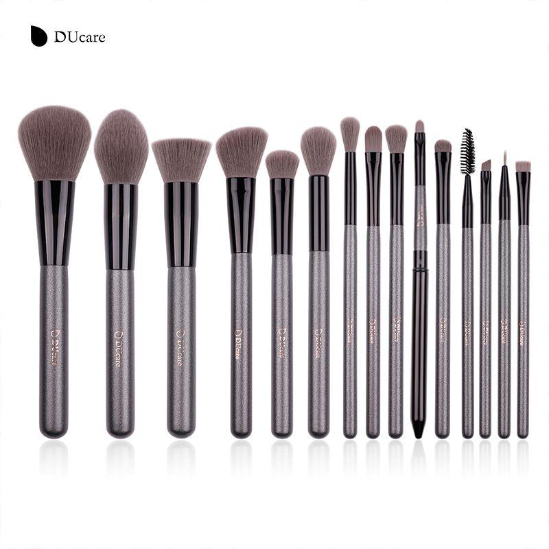 DUcare New 15 Pcs Makeup Brushes Set Professional Foundation Eye Shadow Brush High Quality Cosmetic Make up Brush Kit
