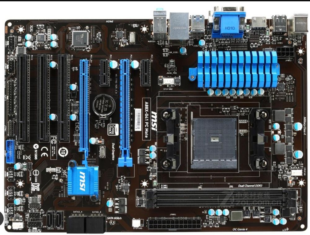 motherboard MSI A88X-G41 PC Mate FM2/FM2+ DDR3 A88X desktop motherboard mainboard free shipping