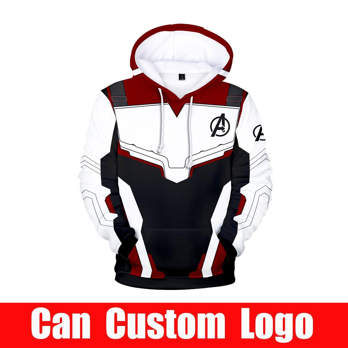 Avengers Endgame Quantum Realm Sweatshirt with hooded Advanced Tech Hoodie Cosplay Costumes 2019 new superhero Iron Man Hoodies