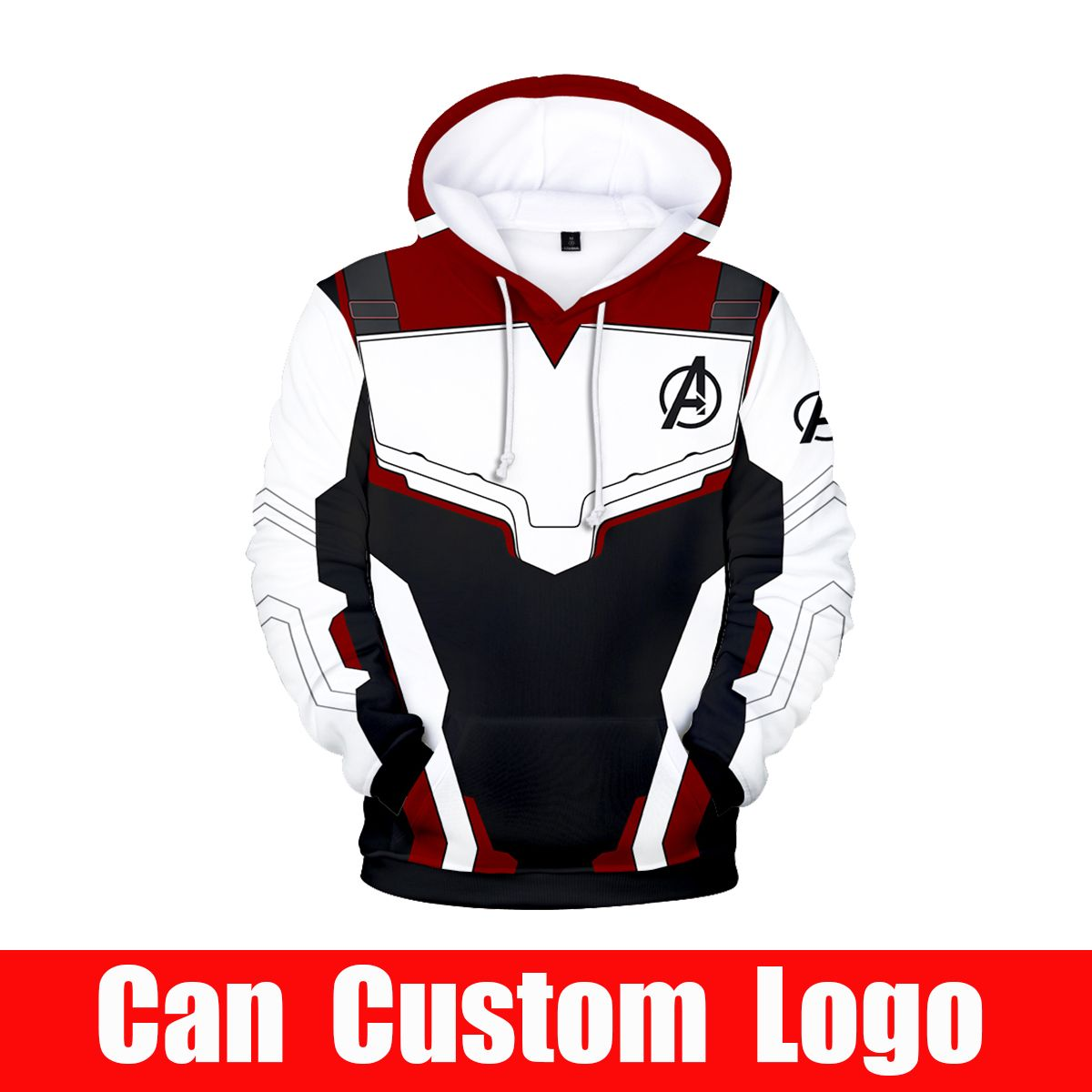 Avengers Endgame Quantum Realm Sweatshirt with hooded Advanced Tech Hoodie Cosplay halloween costume superhero Iron Man Hoodies