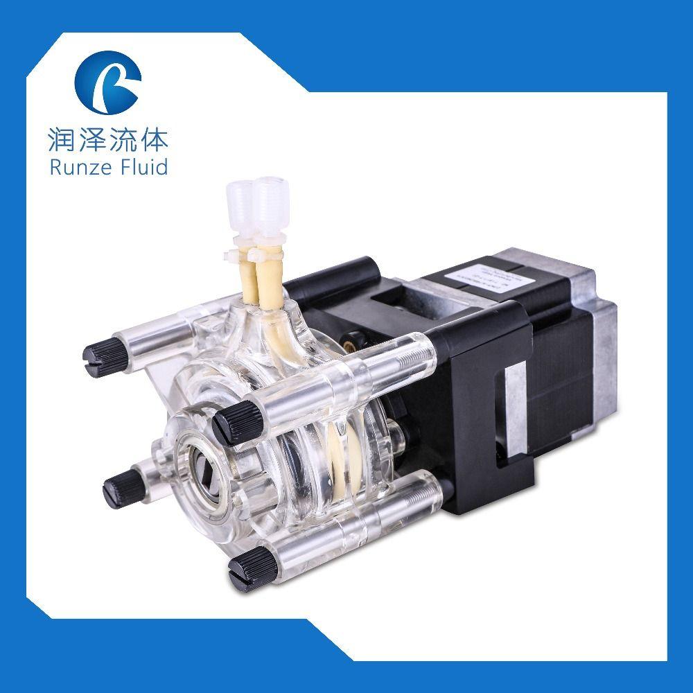 Flow 0-1650ml/min Step Motor Flexible Hose Peristaltic Pump