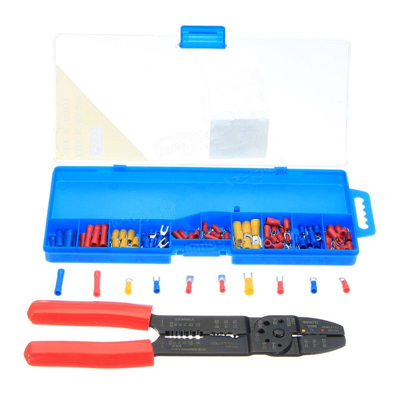 Insulated Electrical Cable Wire Stripper Hand Tool Crimper Plier Tool Kit