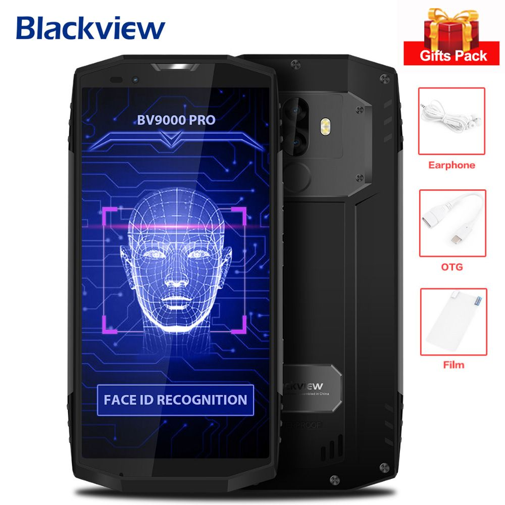Original Blackview BV9000 Pro 6GB+128GB Android 7.1 MTK6757CD Octa Core 2.6GHz 13MP Dual Rear Cams 5.7'' 4G Mobile Phone NFC OTG