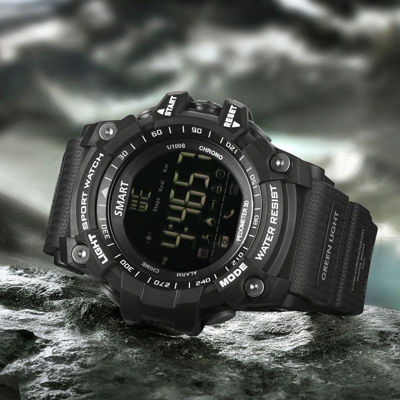 Новые спортивные Smart Watch звуковой сигнал тревоги Спорт Monitor IP67 Водонепроницаемый израсходованных калорий мужские часы удаленной камеры час...
