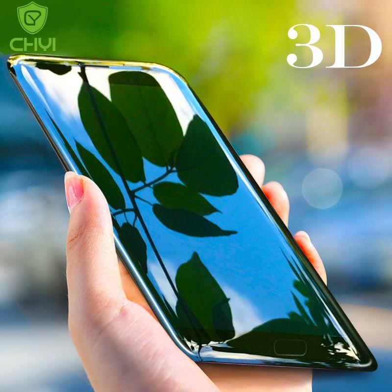 CHYI 3D En Verre Incurvé Pour Oneplus 5 Plein Écran Protecteur Oleophobic Revêtement 5.5 pouces 1 + 5 9 H Trempé OnePlus5 Trempé Film