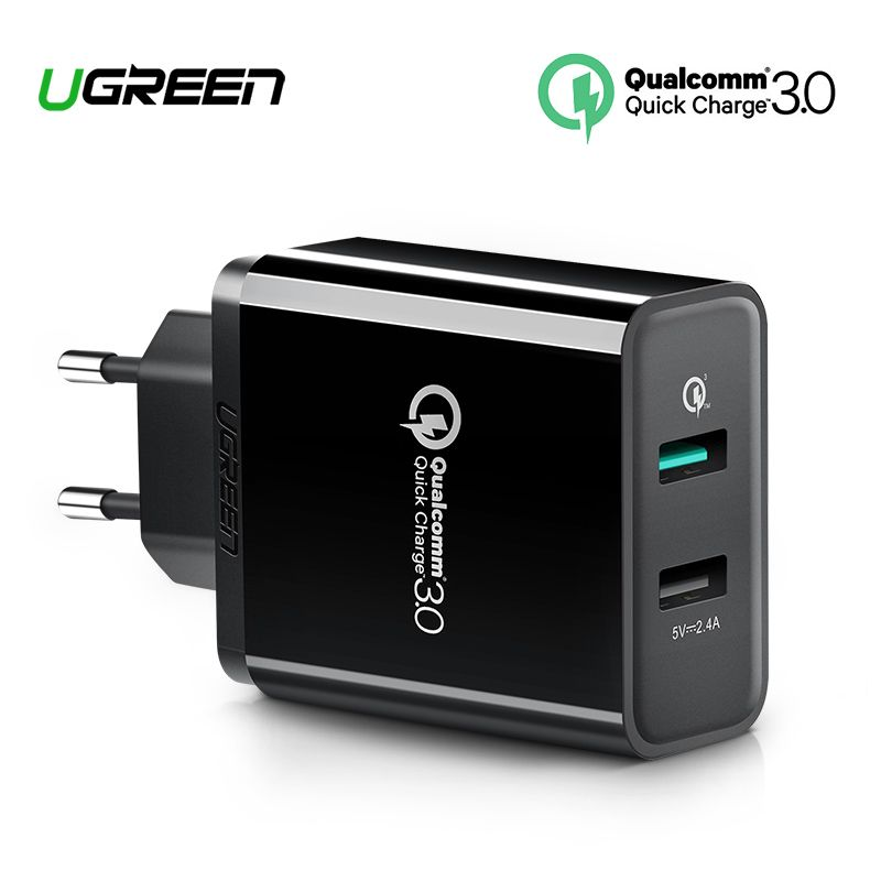 Ugreen Charge rapide 3.0 30 W QC 3.0 chargeur USB pour iPhone X 8 chargeur rapide pour Samsung Galaxy s8 s9 Xiao mi 8 Charge rapide 3.0