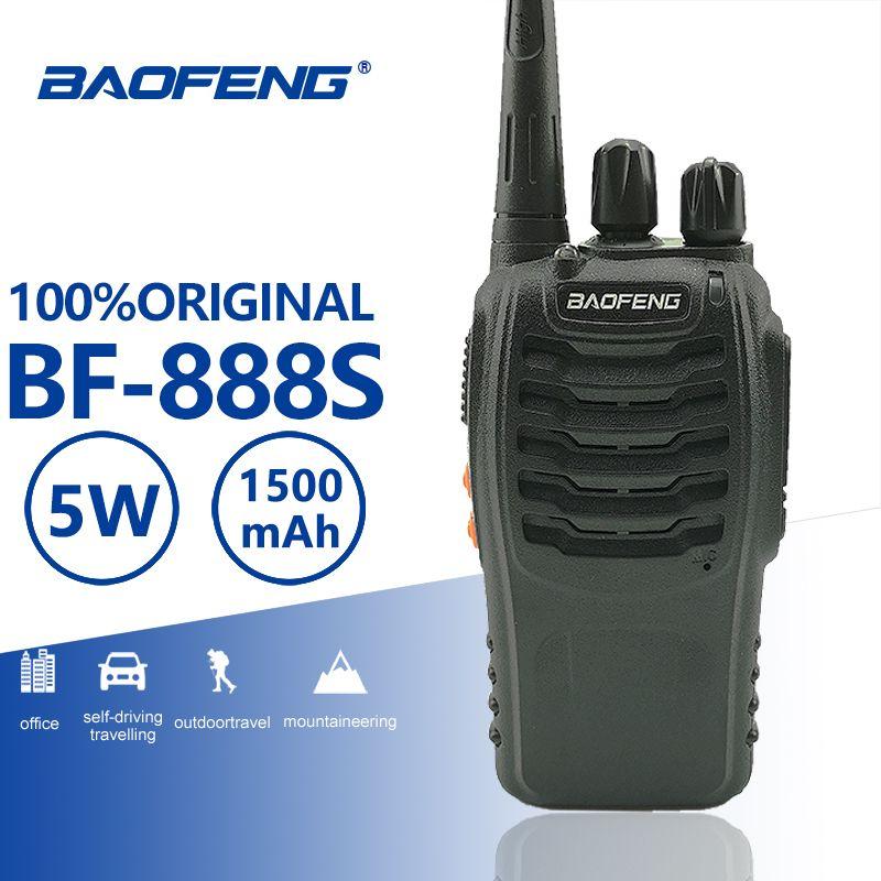 Baofeng BF-888S 5 W Classique Talkie Walkie UHF Radio 400-470 MHz Radio Amateur de Poche Portable BF 888 S balayage Contrôle BF888S CB Radio