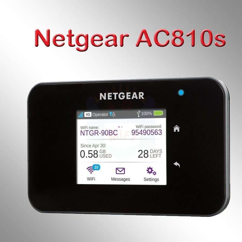 newest netger AC810S 4g 600mbps 4g wifi router 4g wifi dongle lte Wireless Aircard 810S 4G LTE mifi pocket pk e5786 ac790s