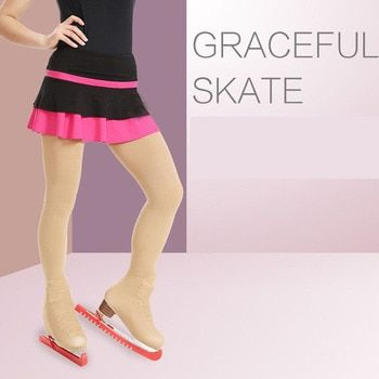 Child 3 Size Thickened Ice Skating Figure Skating Socks Pantyhose Stockings With Shoes Cover Turning Skater Pants