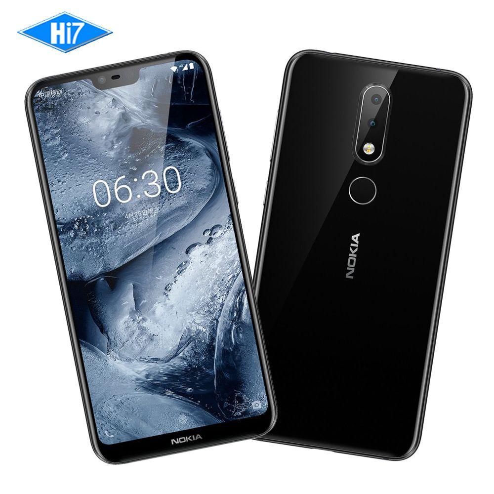 New Nokia X6 32G ROM 4G RAM 5.8 inch Octa Core 3060mAh 16.0MP 3 Camera Dual Sim Android LTE Fingerprint Smartphone Mobile Phone