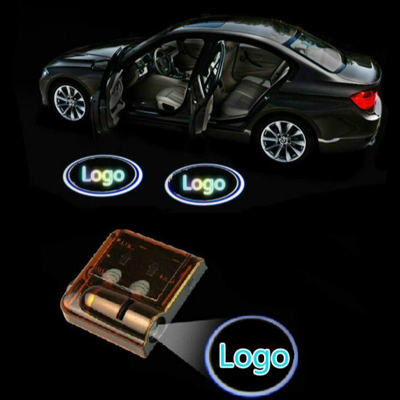 Jurus для FORD 2 шт. Беспроводной двери автомобиля логотип Призрак Тень Добро пожаловать свет авто эмблема светодиодные лампы проектора для боль...